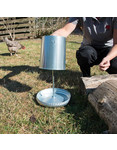 Horizont Geflügelfutterautomat mit Kunststoffdeckel - 5 kg