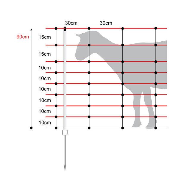 Horizont Schafnetz Turbomax Extra 90 cm/50 m (Einzelspitze)
