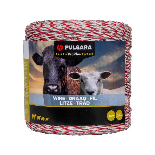 Pulsara 400 m Pulsara Weidezaunlitze Pro Plus (weiß)