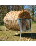 Köhler Holz- und Metallverarbeitung Köhler Rundballenraufe mit Kufen für gehörnte Tiere