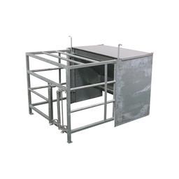 Lämmer-Futterautomat mit Vorraum und Schlupf
