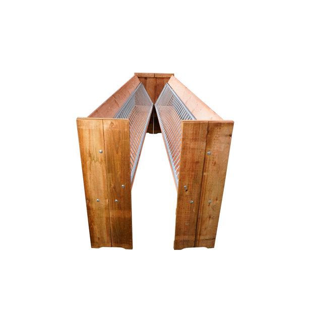 Köhler Holz- und Metallverarbeitung Köhler Doppelraufe/Futterraufe aus Holz mit Nackenschutz (3 m)