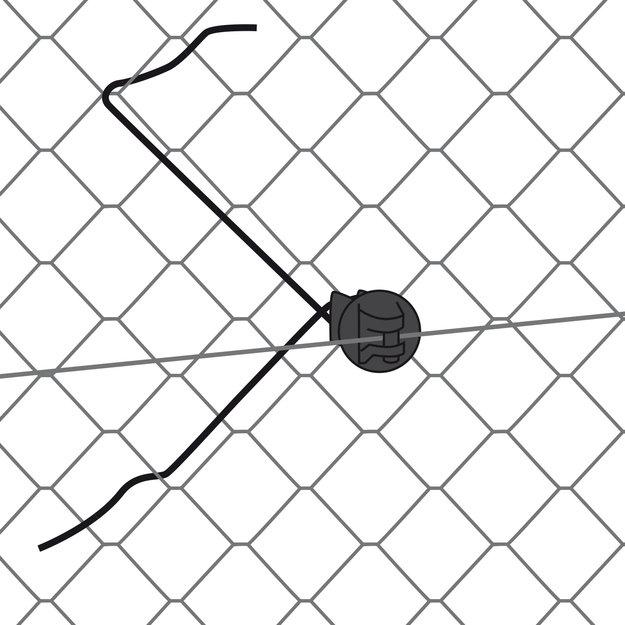 Gallagher  25x Gallagher Abstand-Isolator für Maschendraht 32 cm