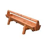 Köhler Holz- und Metallverarbeitung Köhler Futtertrog aus Holz (2 m)