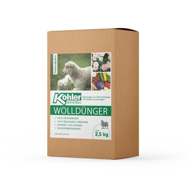Köhler Holz- und Metallverarbeitung Köhler´s Wolldünger/Schafwollpellets - 2,5 kg