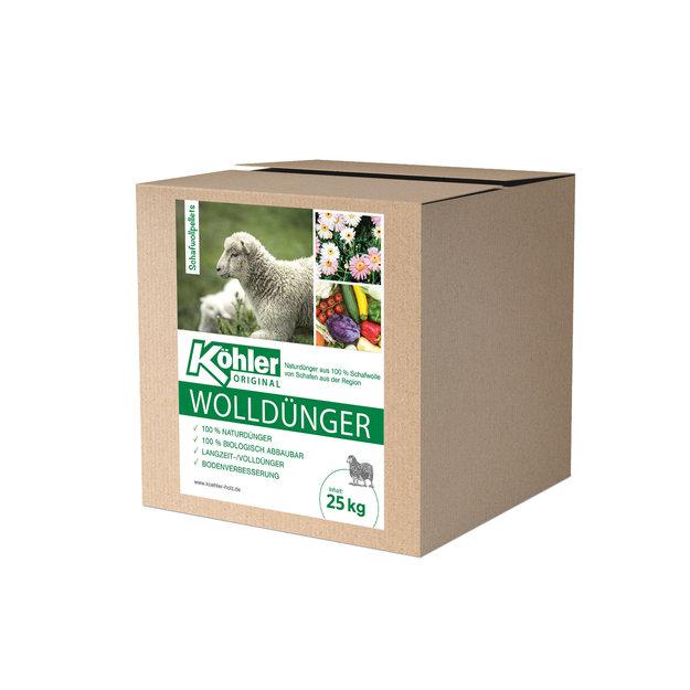 Köhler Holz- und Metallverarbeitung Köhler´s Wolldünger/Schafwollpellets - 25 kg
