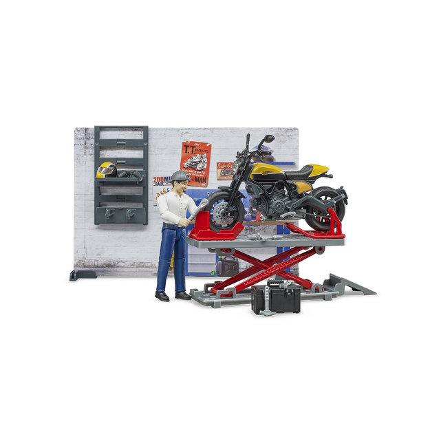 Bruder Bruder Motorradwerkstatt Scrambler Ducati Full Throttle 1:16