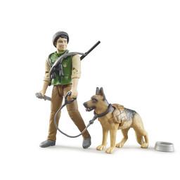 Bruder Förster mit Hund und Ausrüstung 1:16