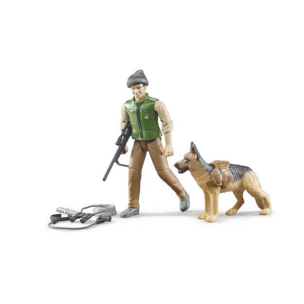 Bruder Bruder Förster mit Hund und Ausrüstung 1:16