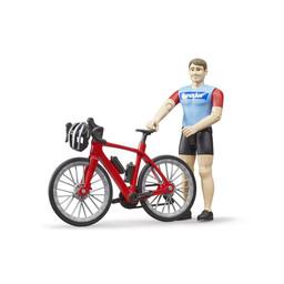 Bruder Rennrad mit Radfahrer 1:16