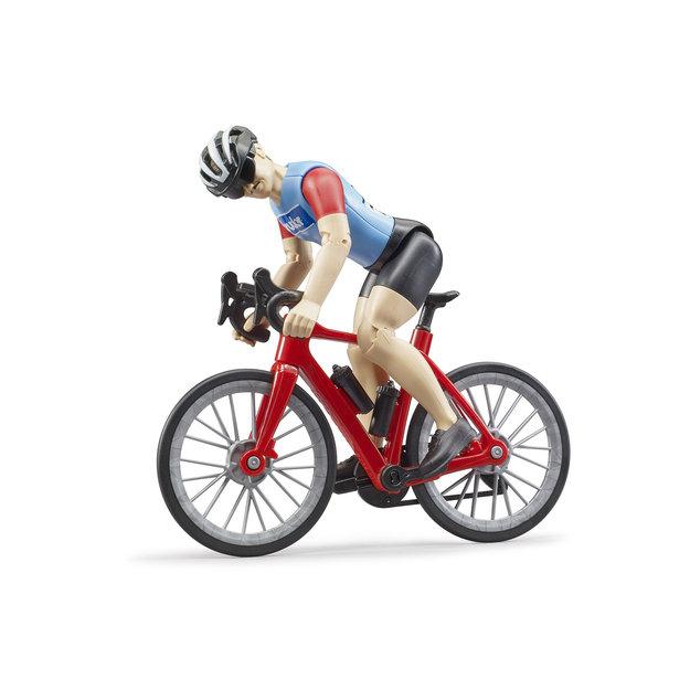 Bruder Bruder Rennrad mit Radfahrer 1:16