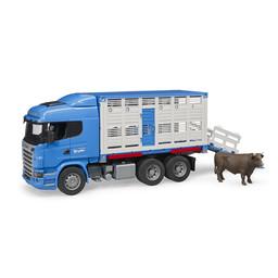 Bruder Scania R-Series Tiertransport mit Rind 1:16