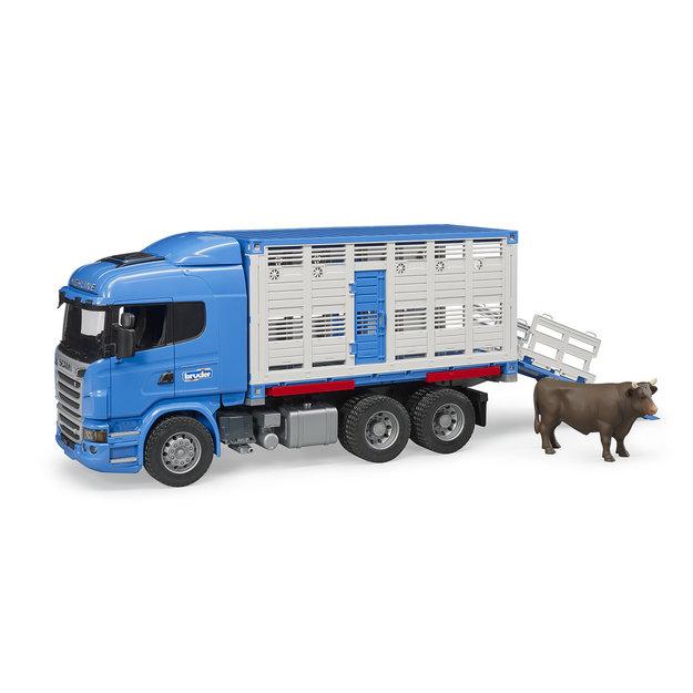 Bruder Bruder Scania R-Series Tiertransport mit Rind 1:16