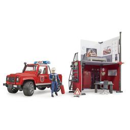 Bruder Feuerwehrstation mit Land Rover Defender 1:16