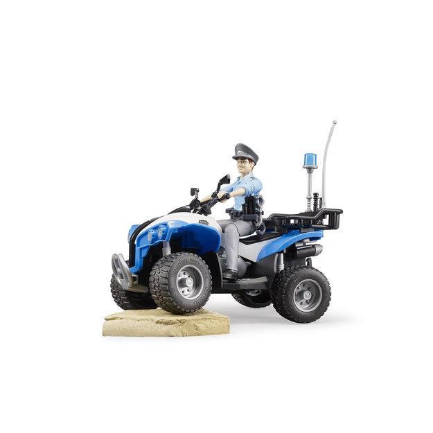 Bruder Bruder Polizei-Quad mit Polizist und Ausstattung 1:16