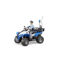 Bruder Polizei-Quad mit Polizist und Ausstattung 1:16