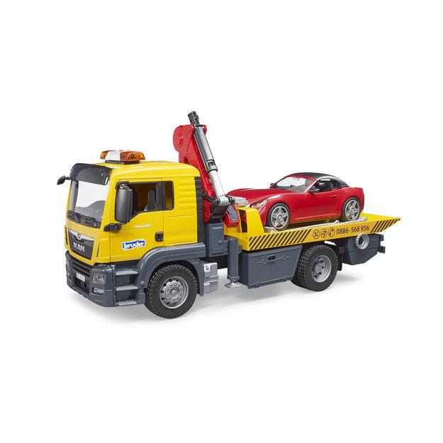 Bruder Bruder MAN TGS Abschlepp-LKW mit Roadster 1:16