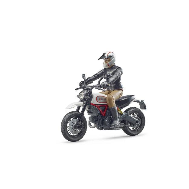 Bruder Bruder Motorrad Ducati Desert Sled mit Fahrer 1:16
