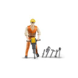 Bruder Bauarbeiter mit Zubehör 1:16