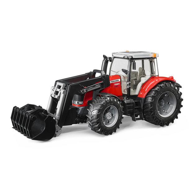Bruder Bruder Traktor Massey Ferguson 7624 mit Frontlader 1:16