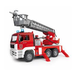 Bruder MAN LKW Feuerwehr mit Drehleiter und Wasserpumpe 1:16