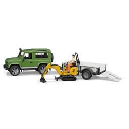 Bruder Land Rover Defender mit Anhänger 1:16