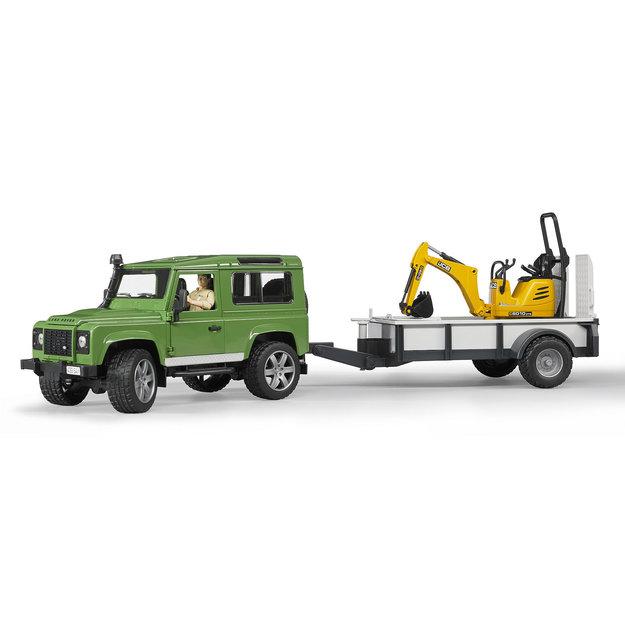 Bruder Bruder Land Rover Defender mit Anhänger 1:16