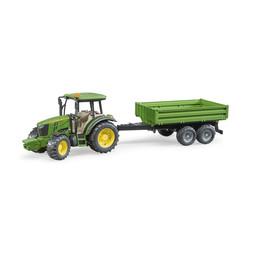 Bruder Traktor John Deere 5115M mit Bordwandanhänger 1:16