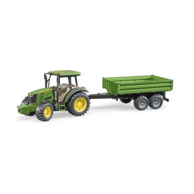 Bruder Bruder Traktor John Deere 5115M mit Bordwandanhänger 1:16