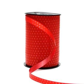 Krullint Bolletje Rood - 10mm x 225m