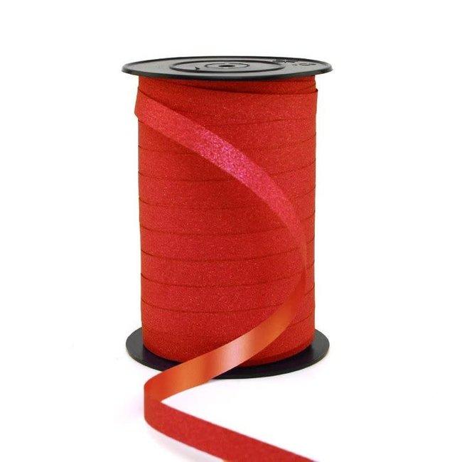 Krullint Glitter Rood - 10mm x 100m