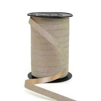Krullint Glitter Beige - 10mm x 100m