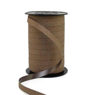 Krullint Glitter Bruin - 10mm x 100m