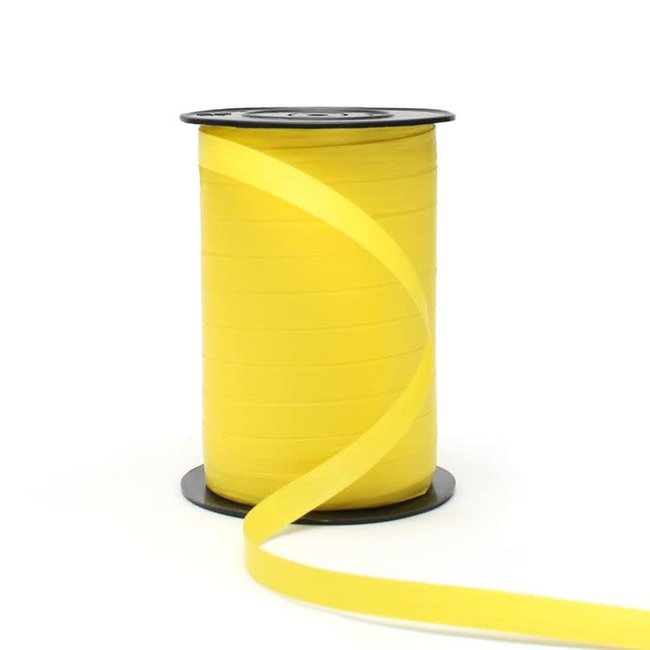 Krullint Paperlook Lichtgeel - 10mm x 250m