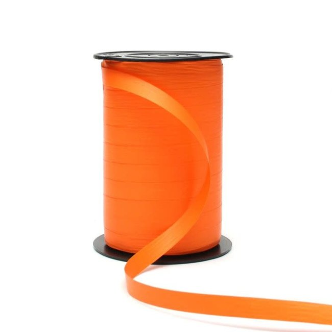 Krullint Paperlook Oranje - 10mm x 250m