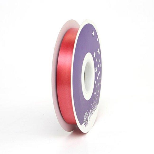 Krullint Satin Donkerrood - 19mm x 100m
