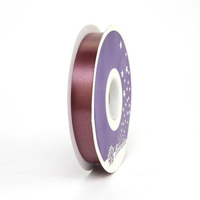 Krullint Satin Bordeaux - 19mm x 100m