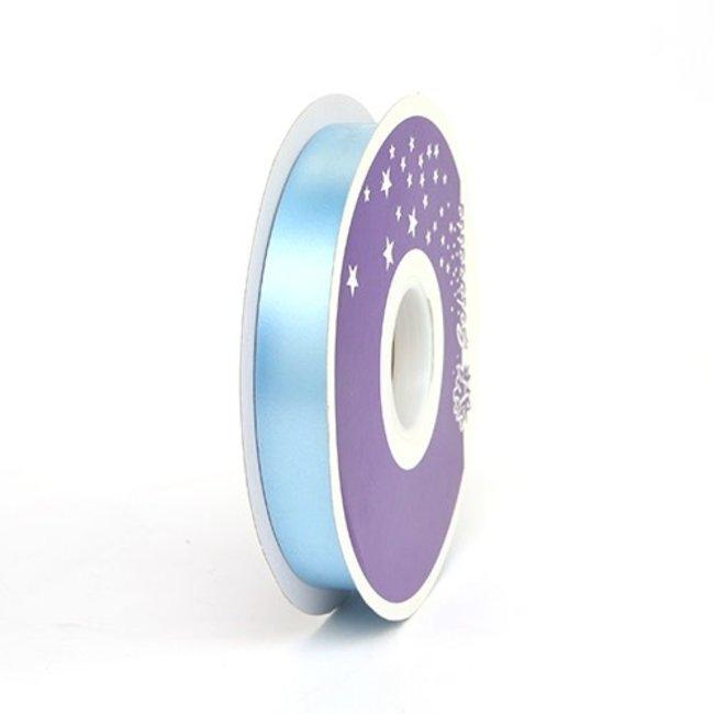 Krullint Satin Lichtblauw - 19mm x 100m