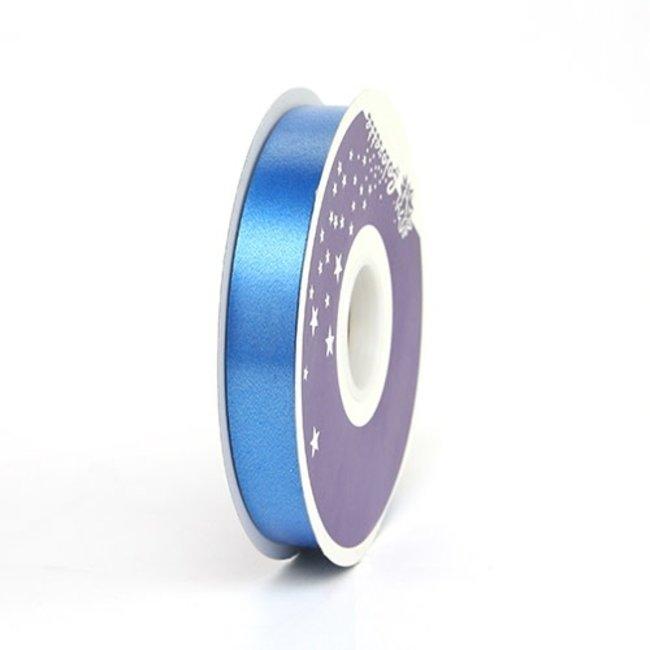 Krullint Satin Blauw - 19mm x 100m