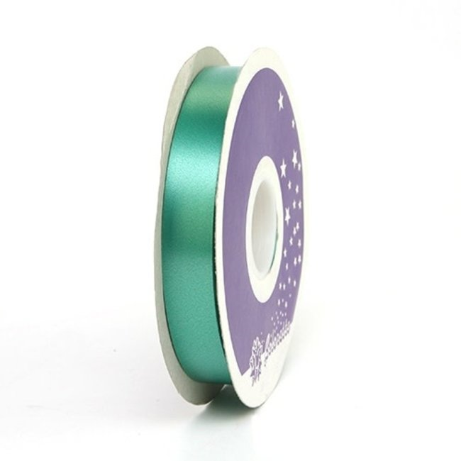 Krullint Satin Groen - 19mm x 100m
