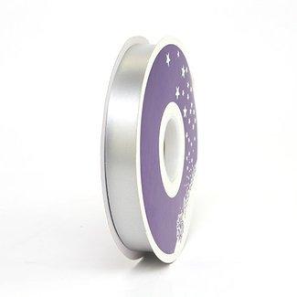 Krullint Satin Zilver - 19mm x 100m