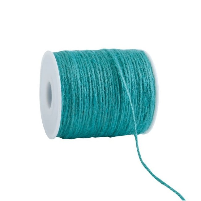 Jute Cored Turquoise - 2mm x 100m