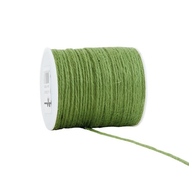 Jute Cored Groen - 2mm x 100m