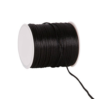 Silk Cording Zwart - 2mm x 100m
