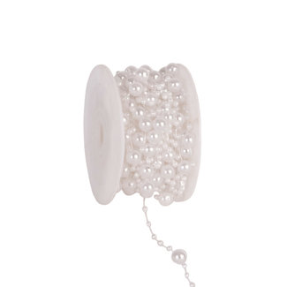 Round Beads Wit - 8mm x 10m