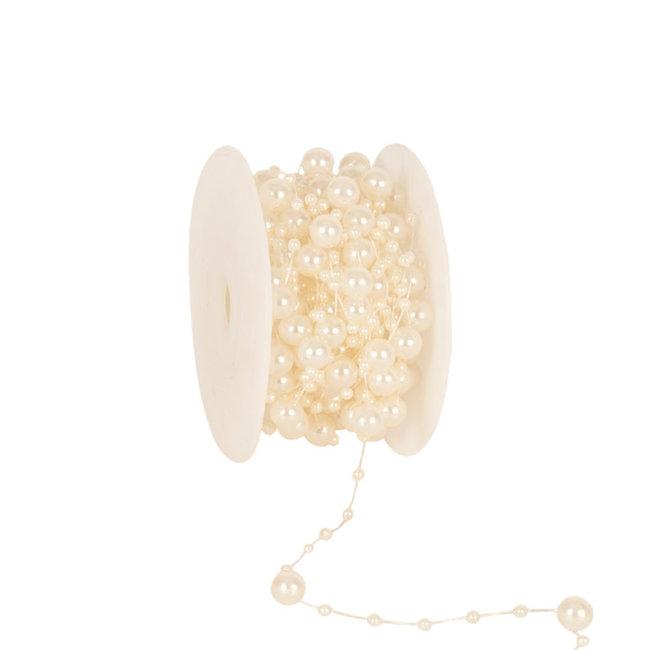 Round Beads Creme - 8mm x 10m