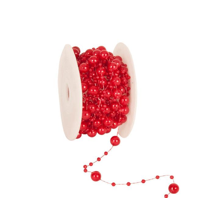 Round Beads Rood - 8mm x 10m