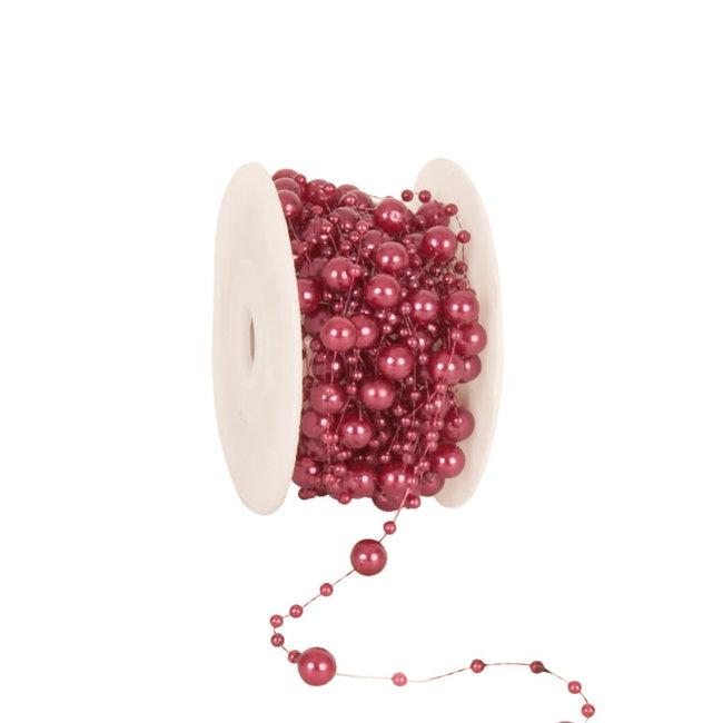 Round Beads Donkerroze - 8mm x 10m