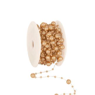 Round Beads Lichtbruin - 8mm x 10m