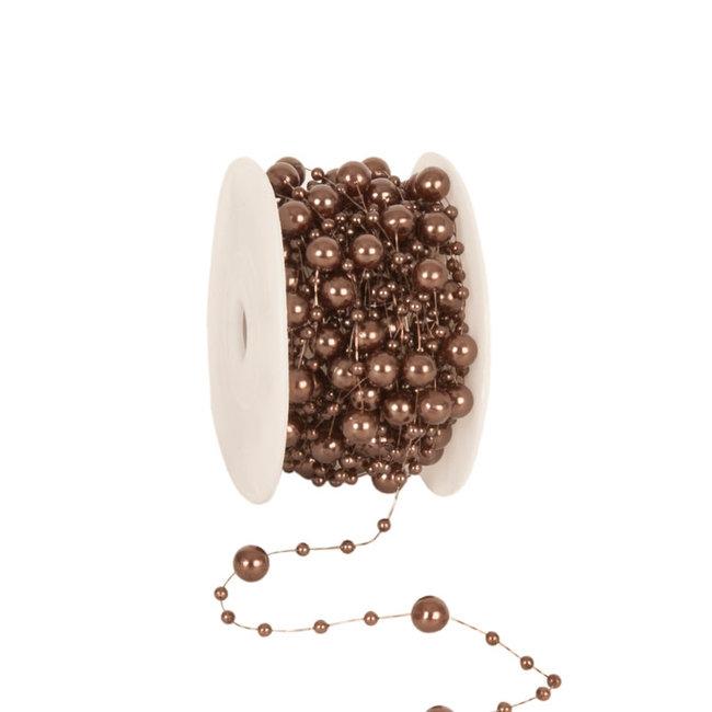 Round Beads Bruin - 8mm x 10m
